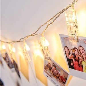 """String lights photo clips clear home decor 118"""""""